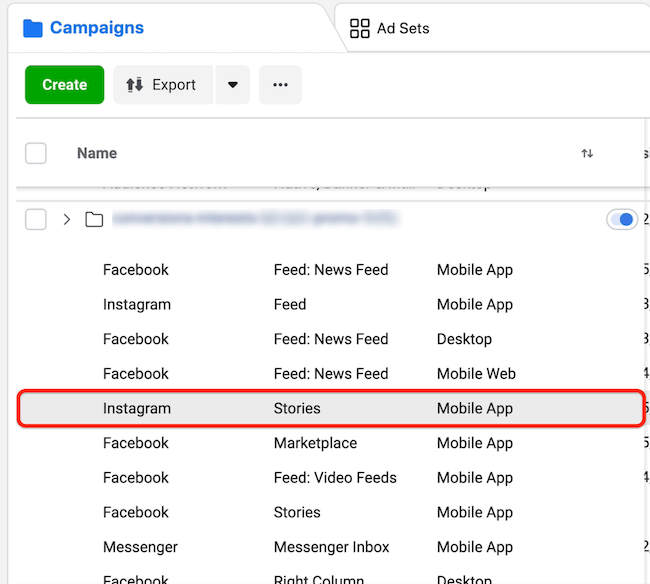 ad data by placement in Facebook Ads Manager