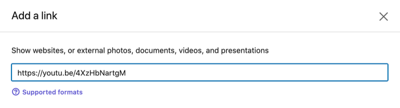 settings option to add a video link to your linkedin featured profile section
