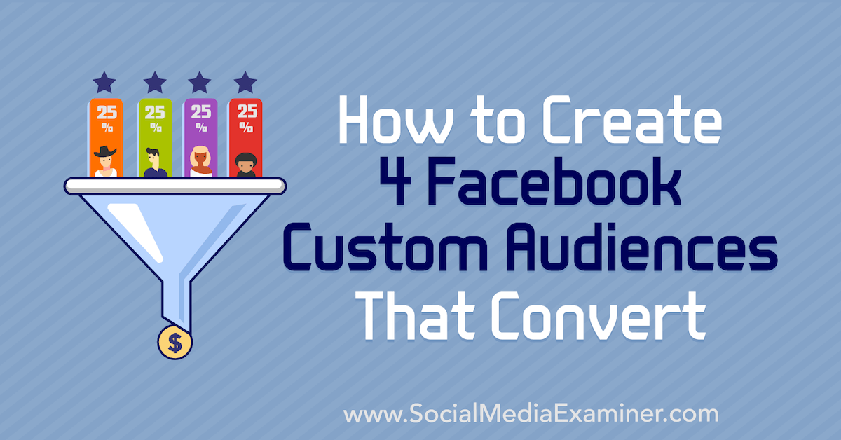 How to Create 4 Facebook Custom Audiences That Convert