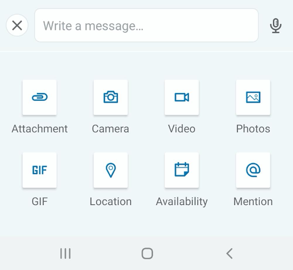 linkedin message options including sending a video message