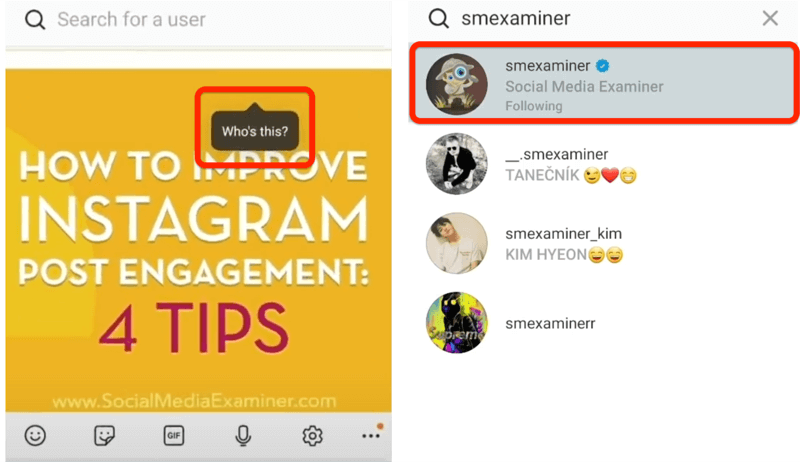 instagram post option to tag someone with on post-tap