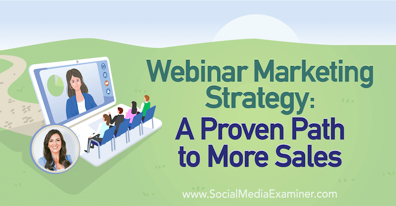Webinar Marketing Strategy: A Proven Path to More Sales featuring insights from Amy Porterfield on the Social Media Marketing Podcast.