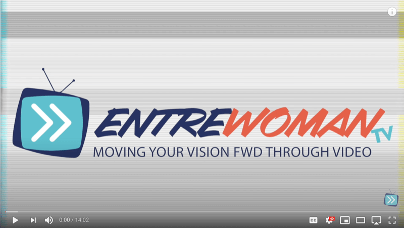 screenshot of an entrewoman tv video with the short logo intro