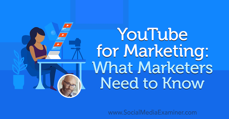 YouTube for Marketing: What Marketers Need to Know featuring insights from Nick Nimmin on the Social Media Marketing Podcast.