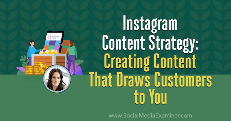 Instagram Content Strategy: Creating Content That Draws Customers to You featuring insights from Alex Tooby on the Social Media Marketing Podcast.