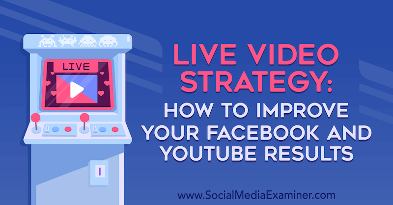 Live Video Strategy: How to Improve Your Facebook and YouTube Results by Luria Petruci on Social Media Examiner.