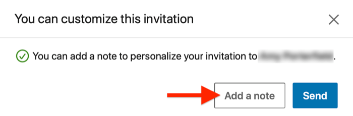 linkedin connection request with (optional) message field