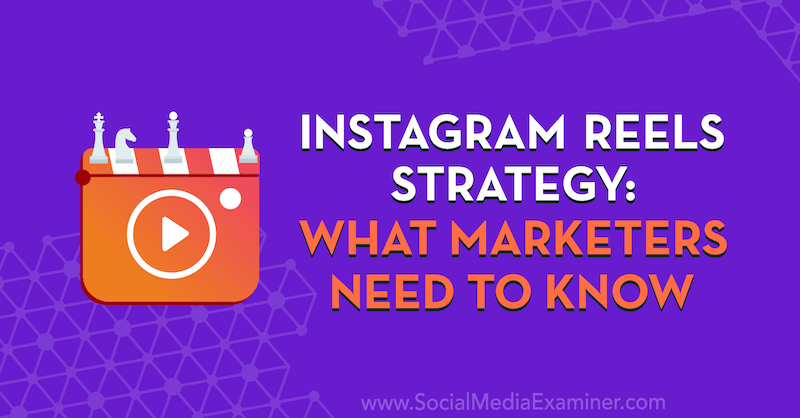 Instagram Reels Strategy: What Marketers Need to Know featuring insights from Elise Darma on the Social Media Marketing Podcast.