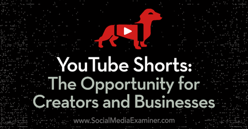 YouTube Shorts: The Opportunity for Creators and Businesses featuring insights from Derral Eves on the Social Media Marketing Podcast.