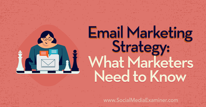 Email Marketing Strategy: What Marketers Need to Know featuring insights from Jenna Tiffany on the Social Media Marketing Podcast.