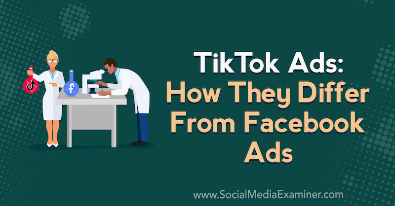 TikTok Ads: How They Differ From Facebook Ads featuring insights from Caleb Roberts on the Social Media Marketing Podcast.