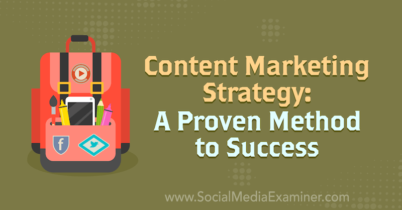 Content Marketing Strategy: A Proven Method to Success featuring insights from Joe Pulizzi on the Social Media Marketing Podcast.