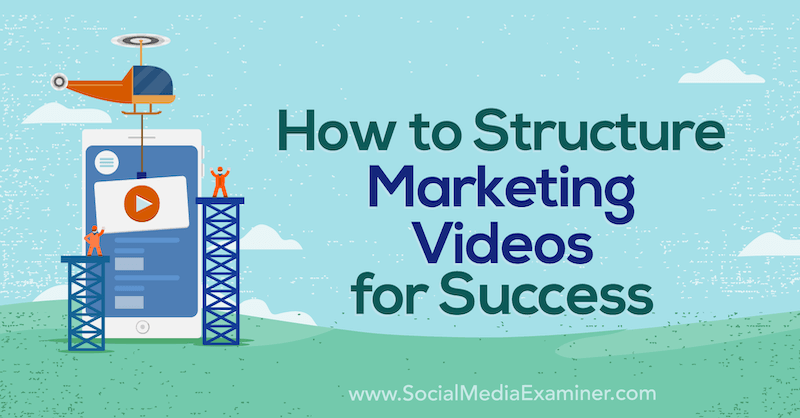 How to Structure Marketing Videos for Success by Diana Gladney on Social Media Examiner.