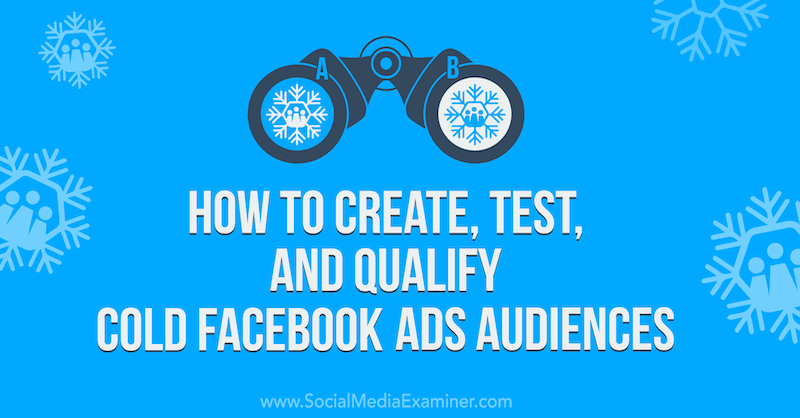 How to Create, Test, and Qualify Cold Facebook Ads Audiences on Social Media Examiner.